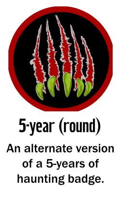 Winning badges 2021 - 5 Year haunter (round)